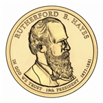 2011 Rutherford Hayes Presidential Dollar - Platinum - Denver