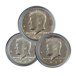 1972 Kennedy Half Dollar 3 pc PDS Set
