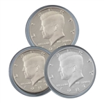 1987 Kennedy Half Dollar 3 pc PDS Set