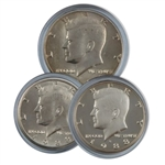 1988 Kennedy Half Dollar 3 pc PDS Set