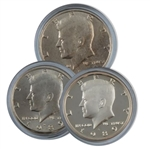 1989 Kennedy Half Dollar 3 pc PDS Set