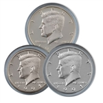 1991 Kennedy Half Dollar 3 pc PDS Set
