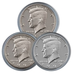 1992 Kennedy Half Dollar 3 pc PDS Set