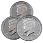 1999 Kennedy Half Dollar 3 pc PDS Set