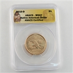 2010 Native American Dollar - Denver - ANACS 67
