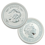 2000 Australian Year of the Dragon 1 oz Silver