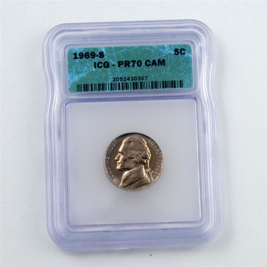 1969 Jefferson Nickel - PROOF - Certified 70