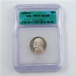 1994 Jefferson Nickel - PROOF - Certified 70