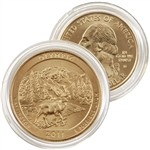 2011 Olympic 24 karat Gold Quarter - Denver Mint