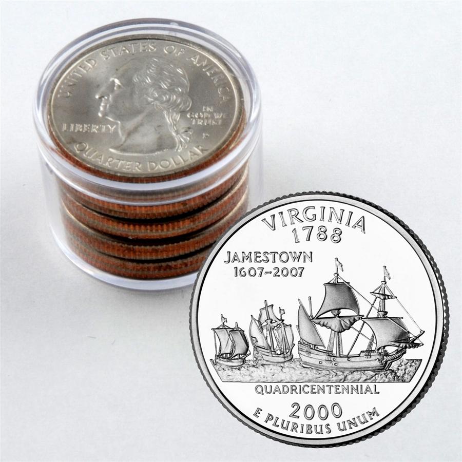 2000 Virginia Quarter Collector Roll of 10 - 5 P / 5 D