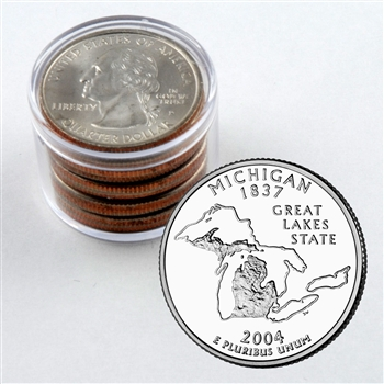 2004 Michigan Qtr Collector Roll of 10 - 5 P / 5 D