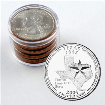 2004 Texas Qtr Collector Roll of 10 - 5 P / 5 D