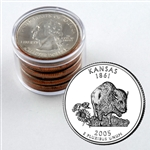 2005 Kansas Qtr Collector Roll of 10 - 5 P / 5 D
