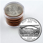 2005 West Virginia Qtr Collector Roll of 10 - 5 P / 5 D