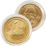 2011 Vicksburg 24 karat Gold Quarter - Denver Mint