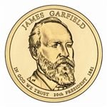 2011 James A. Garfield Presidential Dollar - Uncirculated - Philadelphia