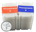 1999 Pennsylvania Quarter Rolls - Philadelphia & Denver Mints - Uncirculated
