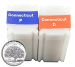 1999 Connecticut Quarter Rolls - Philadelphia & Denver Mints - Uncirculated