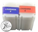 2002 Louisiana Quarter Rolls - Philadelphia & Denver Mints - Uncirculated