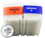 2002 Indiana Quarter Rolls - Philadelphia & Denver Mints - Uncirculated