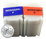 2002 Mississippi  Quarter Rolls - Philadelphia & Denver Mints - Uncirculated