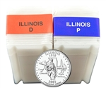 2002 Illinois Quarter Rolls - Philadelphia & Denver Mints - Uncirculated