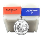 2003 Alabama Quarter Rolls - Philadelphia & Denver Mints - Uncirculated