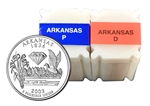 2003 Arkansas Quarter Rolls - Philadelphia & Denver Mints - Uncirculated