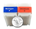 2004 Michigan Quarter Rolls - Philadelphia & Denver Mints - Uncirculated
