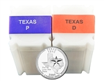 2004 Texas Quarter Rolls - Philadelphia & Denver Mints - Uncirculated