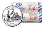 2005 US Mint Licensed Album - California State Quarter Rolls - Philadelphia & Denver