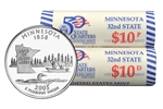 2005 US Mint Licensed Album - Minnesota State Quarter Rolls - Philadelphia & Denver