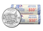 2008 US Mint Licensed Album - Arizona State Quarter Rolls - Philadelphia & Denver