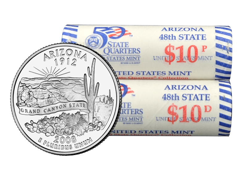 P State Quarter Roll 2008 Arizona