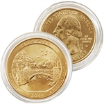 2011 Chickasaw 24 karat Gold Quarter - Denver Mint