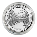 2011 Chickasaw Platinum Quarter - Philadelphia
