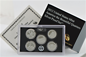 2012 America the Beautiful Quarters Silver Set - Original Government Packaging