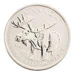 2012 Canadian Moose $5 Silver - Uncirculated