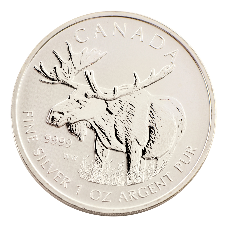 2012 Canadian Moose 5 Silver Uncirculated