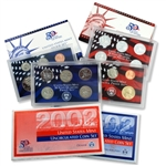 2002 Proof & Mint Set Trio - Clad & Silver