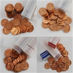 Ft. Pierce Wheat Cent Hoard - 1956/1957/1958 Rolls with Bonus - Uncirculated