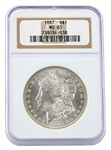 1887 Morgan Silver Dollar - Philadelphia - Certified 65