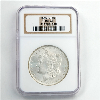 1884 Morgan Dollar - New Orleans - Certified 65