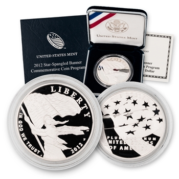 2012 Star Spangled Banner Silver Dollar - Proof