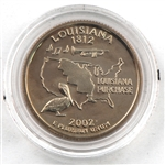 2002 Louisiana Proof Quarter - San Francisco Mint