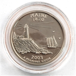 2003 Maine Proof Quarter - San Francisco Mint