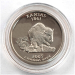2005 Kansas Proof Quarter - San Francisco Mint