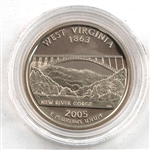 2005 West Virginia Proof Quarter - San Francisco Mint