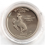 2007 Wyoming Proof Quarter - San Francisco Mint