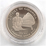 2009 District of Columbia Proof Quarter - San Francisco Mint
